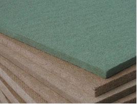 Poröse Holzfaserplatte